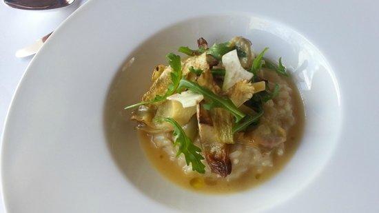 Le Restaurant des Rois : risotto aux artichauts