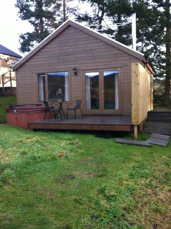 Kinnaird Woodland Lodges: Our Log Cabin in January 2014