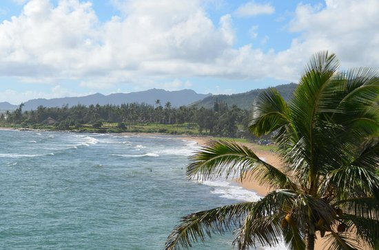 Wailua Bay View Condominiums: View from lanai #306