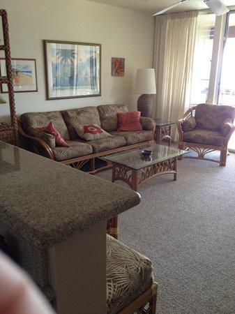 Wailua Bay View Condominiums: living room #306