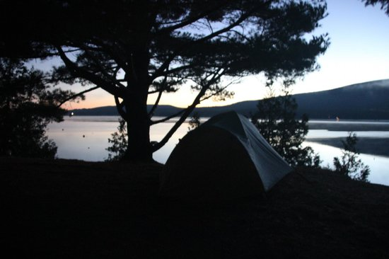 Somes Sound View Campground : Somes Sound View - Anchor Campsite at sunrise