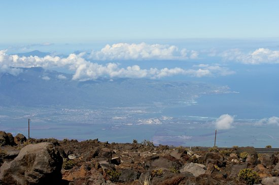 Haleakala Crater: View of the Island from Visitor Center