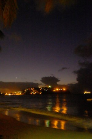 Rendezvous Resort : View towards Castries at NIght