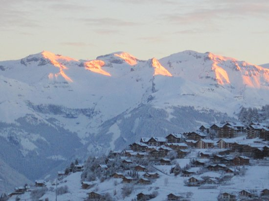 Alpine Comfort: Amazing view from the Chalet.