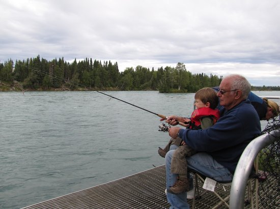 Bob's Cabin & Guide Service: fishing off our private dock