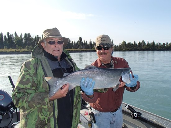 Bob's Cabin & Guide Service: Bob and Bob with a silver