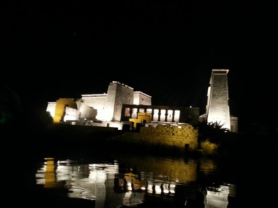 Sound and Light Show - Philae : Approaching the temple