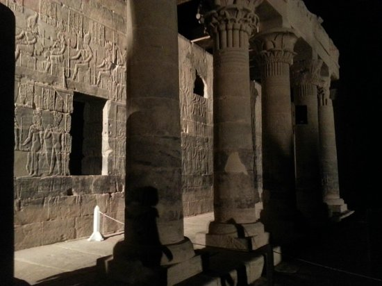 Sound and Light Show - Philae : Inside the temple