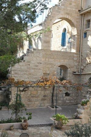 La Maison d'Abraham: un des murs