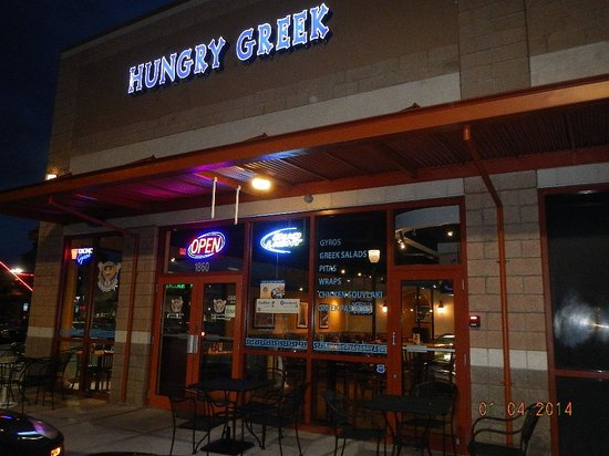 The Hungry Greek : outdoor sign