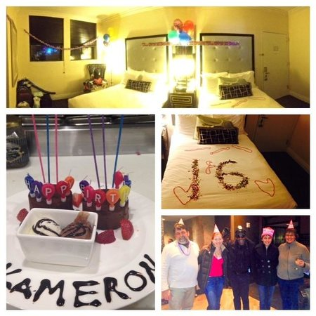 Kimpton Muse Hotel: Happy Birthday from the staff.