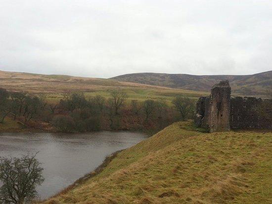 Wind swept Morton Castle