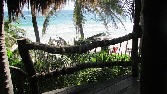 Cabanas La Luna : Captain Dale's Quarter, the deck