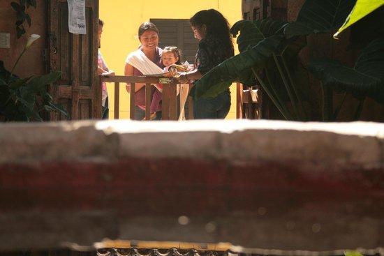 Posada del Abuelito : Le jardin avec son puit