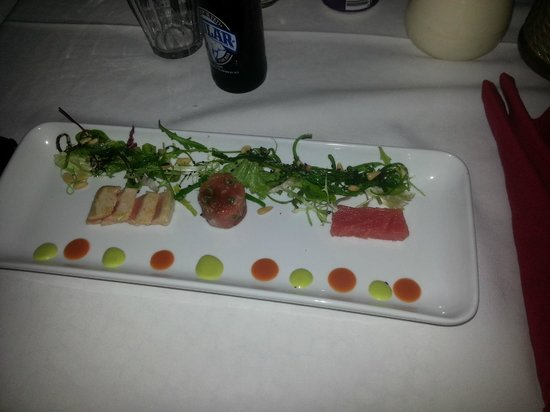 Rozendaels Original Cuisine : trio van Tonijn