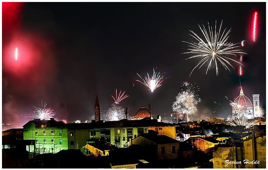 Principe Hotel: New Year 2014 fireworks by the roof top
