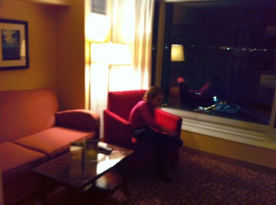 Niagara Falls Marriott Fallsview Hotel & Spa: Sitting area in junior suite