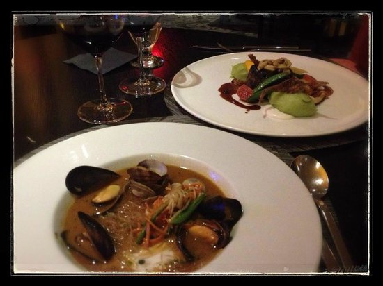 Inn at Laurel Point: fabulous dinner in Aura