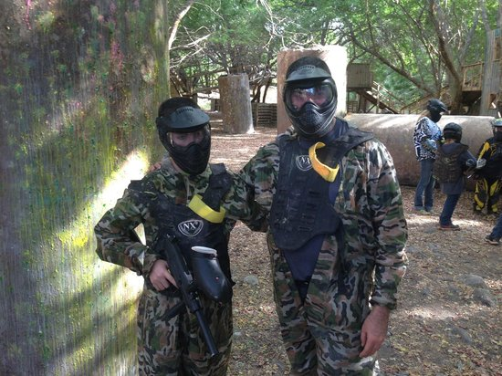 Maui Paintball : my son and I - from dallas texas