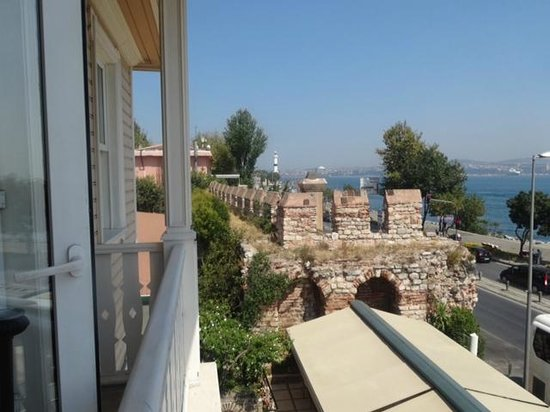 Best Western Citadel Hotel: View from Room of Byzantine Wall and Sea of Marmara