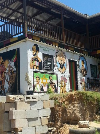 Thole Township Tours: Haile Selassie art