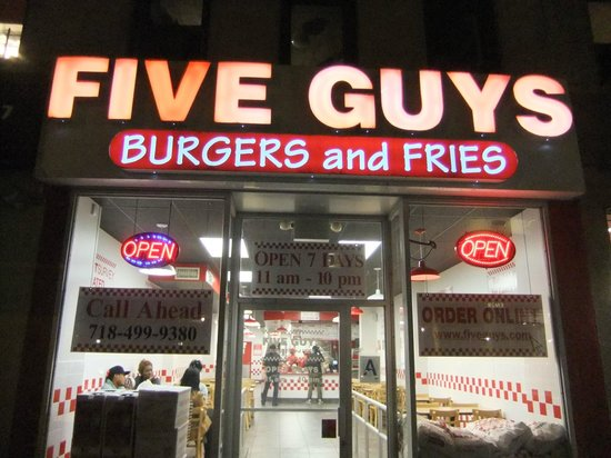 Photo of Burger Joint Five Guys Burgers & Fries at 8510 5th Ave, Brooklyn, NY 11209, United States