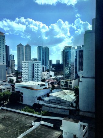 Eurostars Panama City : Looking toward Bay from bedroom window