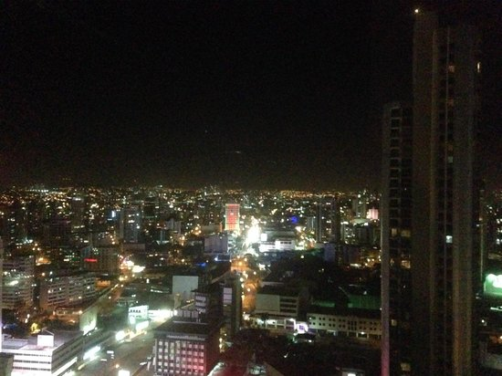 Eurostars Panama City : View at night on balcony outside restaurant on 26th floor