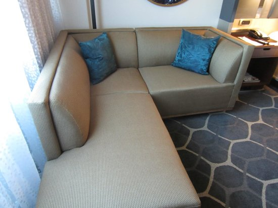 Royal Sonesta Houston Galleria : Couch from living area