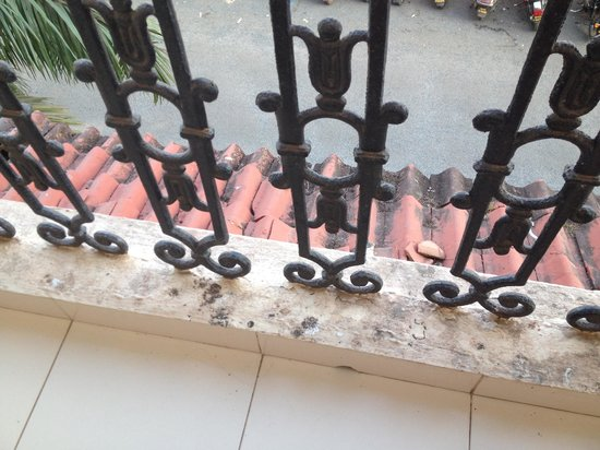 Kamat Holiday Homes : Pigeon poo all over the balcony - not cleaned off!