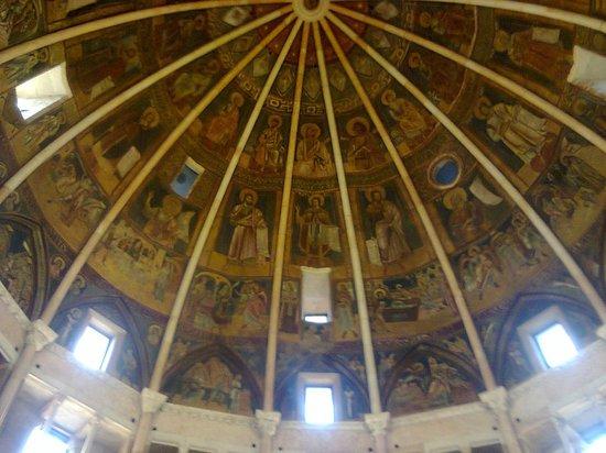 Battistero di Parma : spicchio di cupola