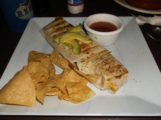 Nash's Sports Bar and Studio Rentals: Curry burrito (vegetarian/vegan)