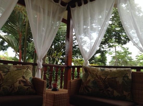 El Encanto Inn : terrazzo sul giardino tropicale