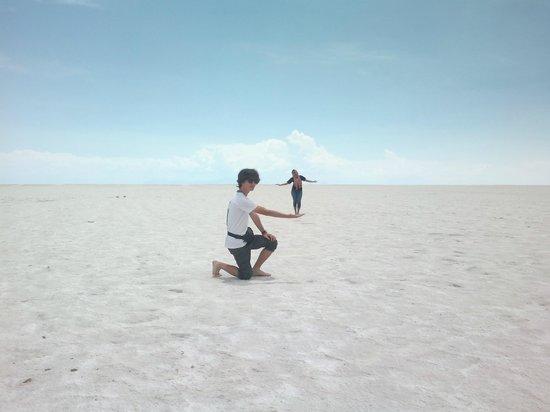 Salar de Uyuni: En el salar