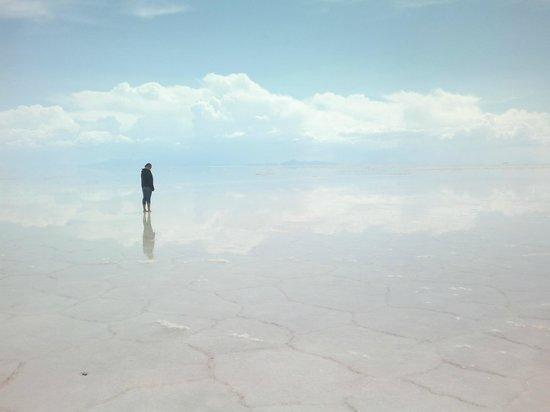 Salar de Uyuni: Caminando...........en el cielo