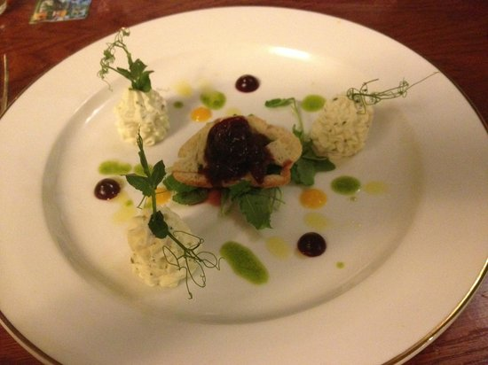 Roganstown Hotel and Country Club: Goats cheese (most disappointing of restaurant menu)