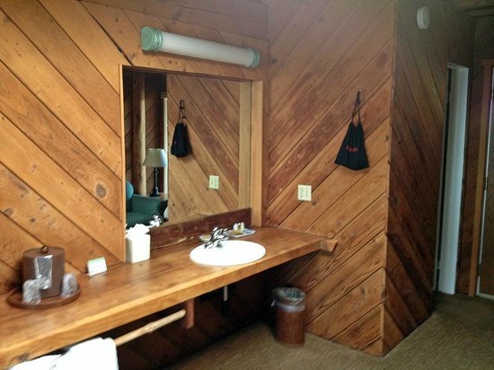 Timber Cove Resort: Sink and counter space