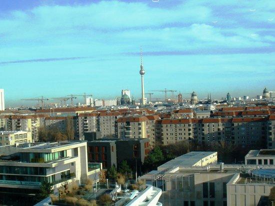 Berlin Marriott Hotel: Vue de l'Executive CLub (10è et dernier étage)