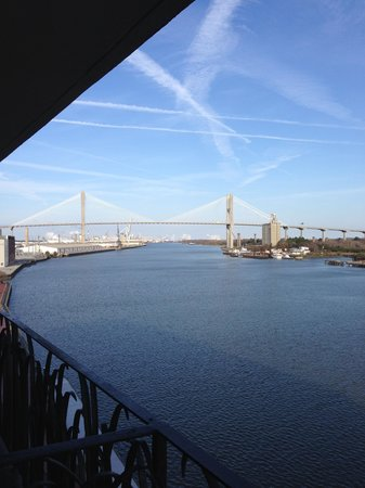 Hyatt Regency Savannah: View from river front balcony