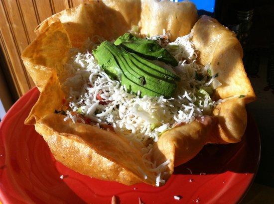 Taqueria El Nopal : Taco salad, plain.