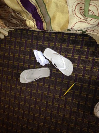 Sleep Inn & Suites Pooler: Not our flipflops or trash