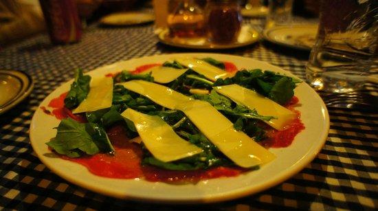 Napoli Ristorante Pizzeria: Carpaccio de carne $105