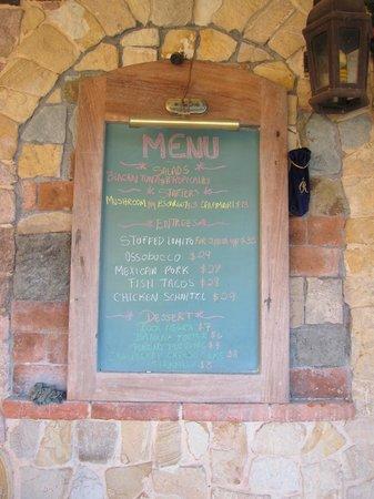 Gingerbread Hotel: menu