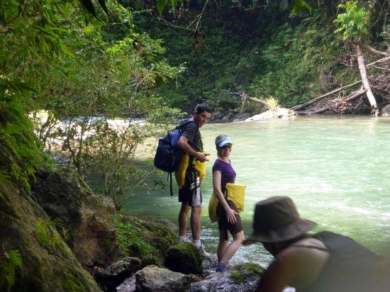 Drake Bay, Costa Rica: Carlos & I ready to float