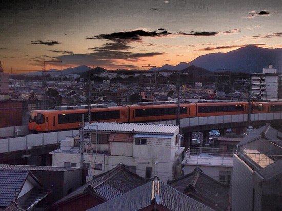 Ise City Hotel : 部屋からは近鉄電車を見ることができました。