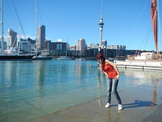 Nomads Auckland Backpackers Hostel: Puerto de Auckland (a unas 8 o 10 cuadras del hostel)