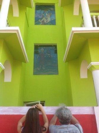 La Calypso Goa: a view on the way ro ourroom