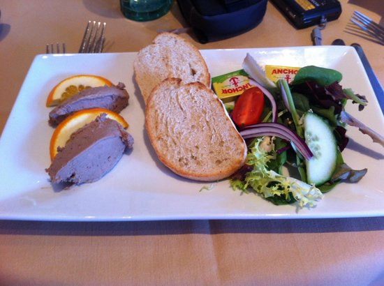 Puccini Ashton: Christmas lunch menu. Pate starter