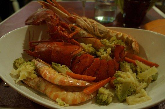 Osteria in domo : lobster & prawns