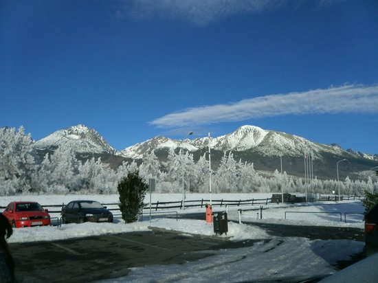 Hotel Hubert: View from the hotel on High Tatras